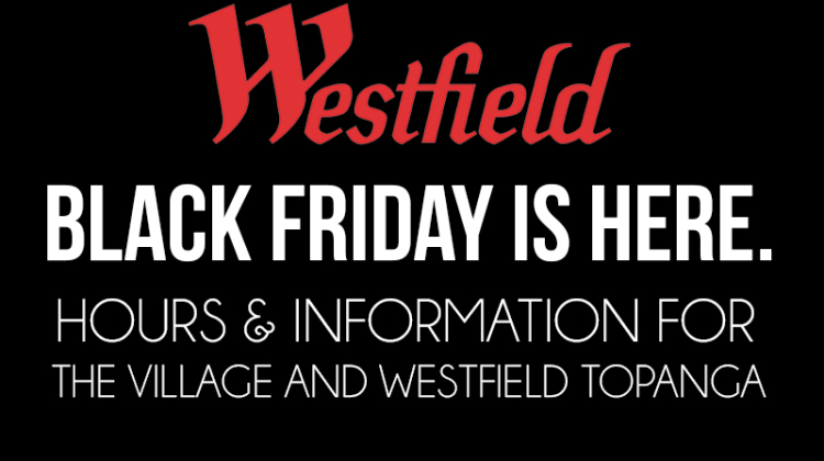 Black Friday at the Westfield Topanga Mall and The Village