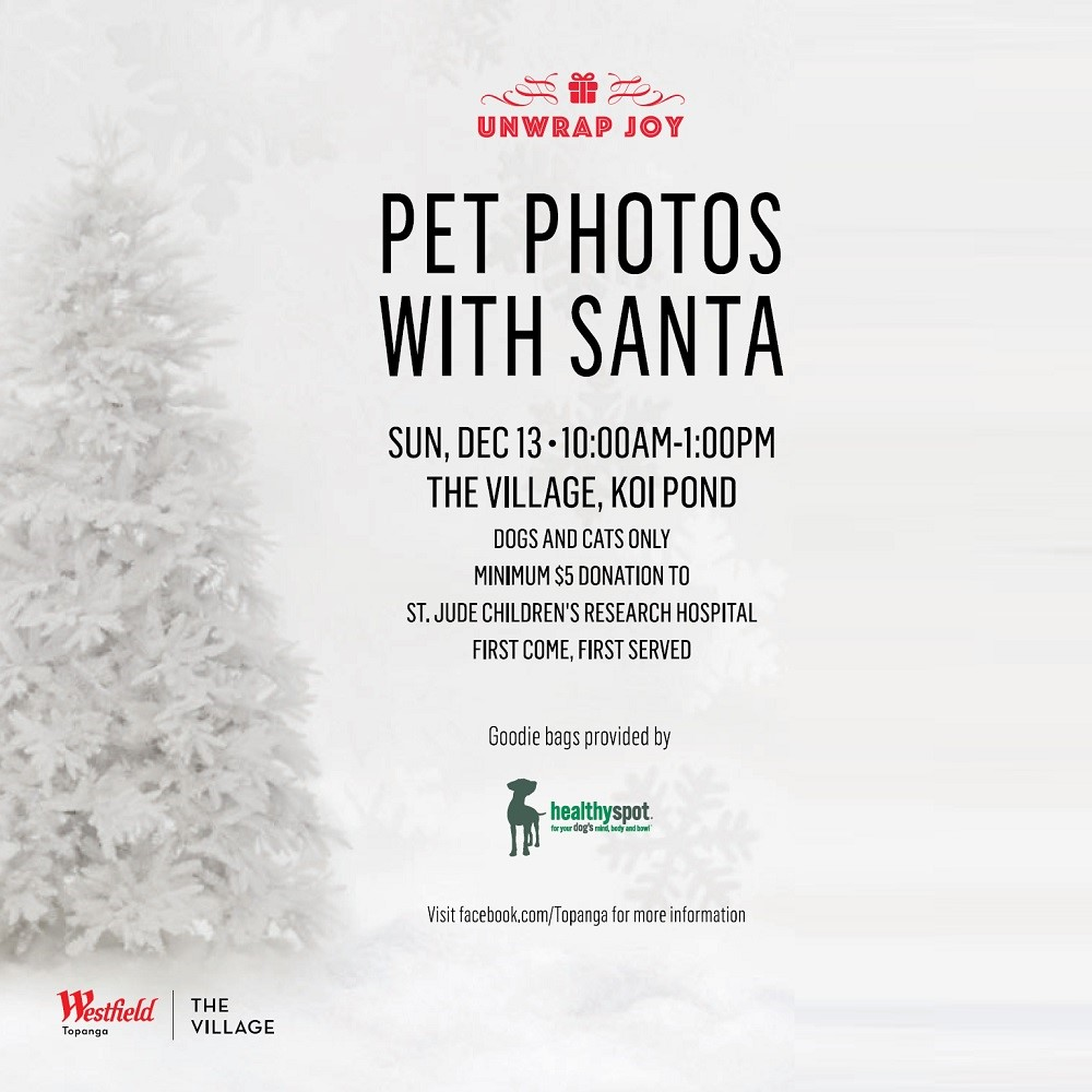 Sunday Pet Photos With Santa