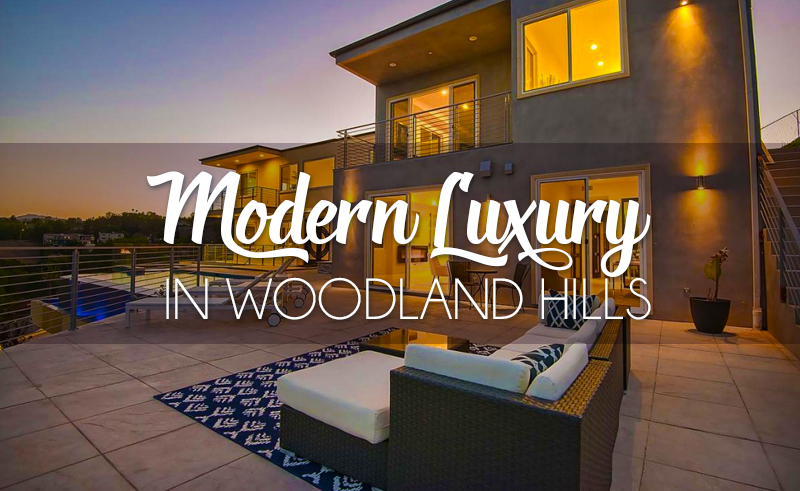 modern luxury house in woodland hills