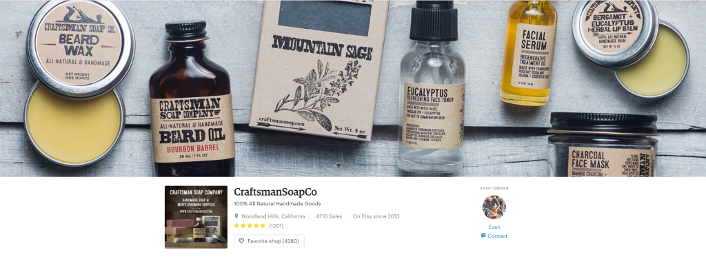 100 All Natural Handmade Goods by CraftsmanSoapCo on Etsy