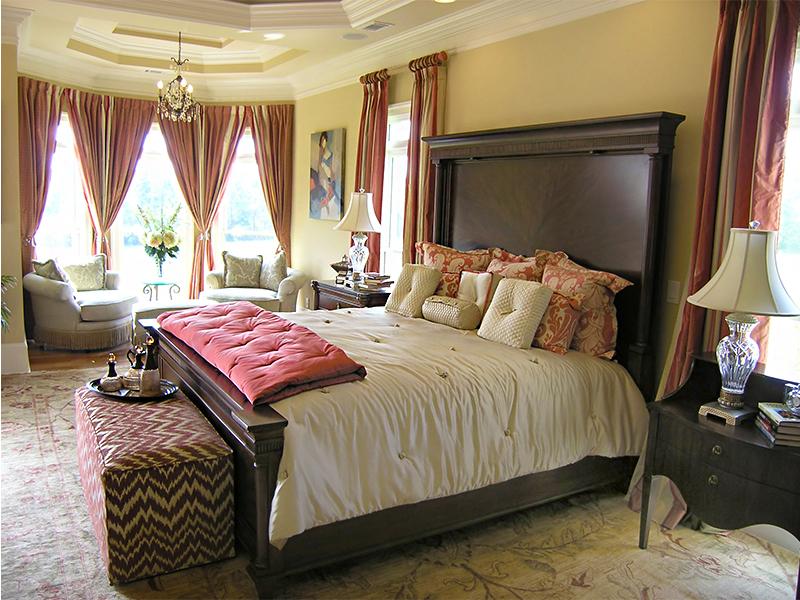 luxury bed room designer model home interior