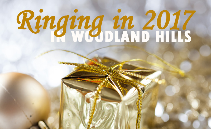 Ringing in the 2017 New Year in woodland hills